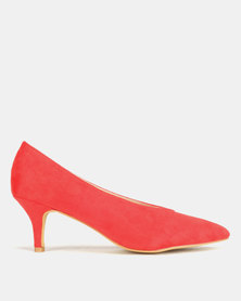 Utopia Sweetheart Kitten Court Heels Red
