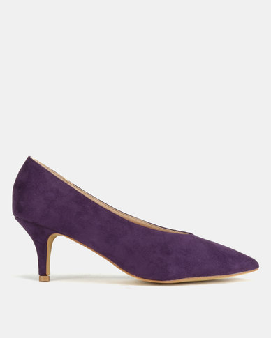 Utopia Sweetheart Kitten Court Heels Purple