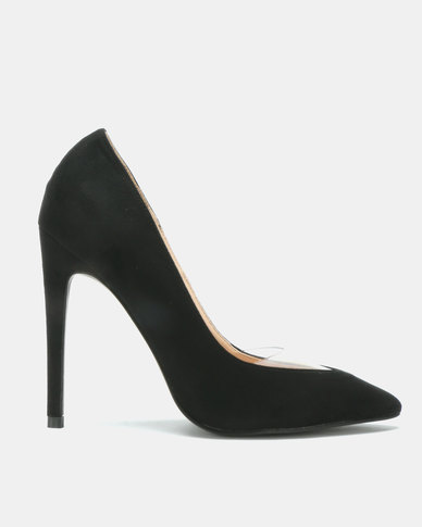 Utopia Vinyl Pointy Court Heels Black