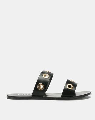 Utopia Eyelet Sandals Black