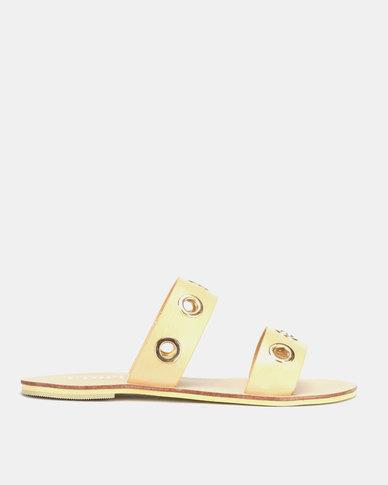 Utopia Eyelet Sandals Beige
