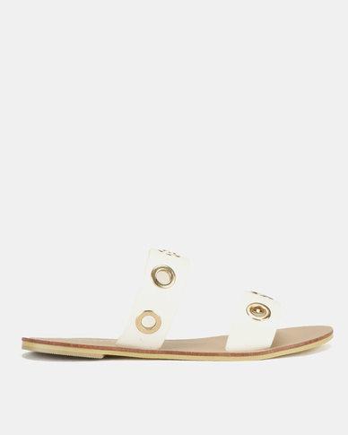 Utopia Eyelet Sandals White