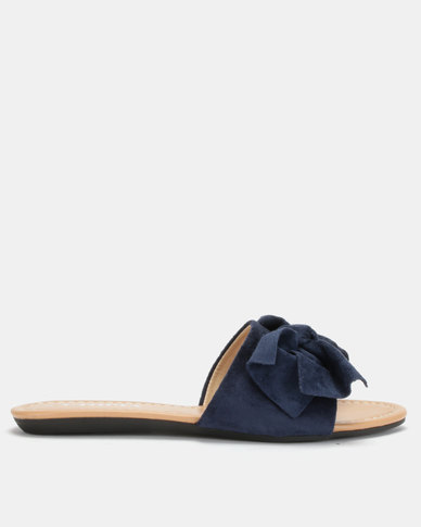 Utopia Bow Mule Slides Navy