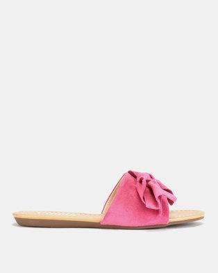 Utopia Bow Mule Slides Pink
