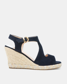 Utopia Espadrille Wedge Sandals Navy