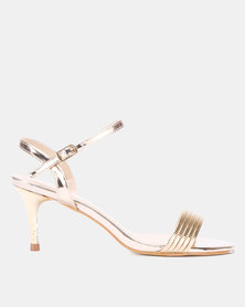 Utopia Evening Kitten Heels Rose Gold