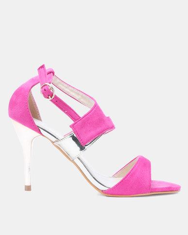 0d1faa7b3 Utopia Vamp Strap Heeled Sandals Pink