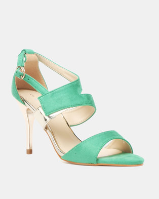 f4592cc5b Utopia Vamp Strap Heeled Sandals Green