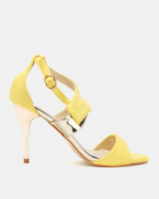 50a46922d Utopia Vamp Strap Heeled Sandals Yellow