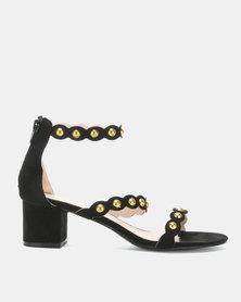 Utopia Gold Trim Low Sandals Black