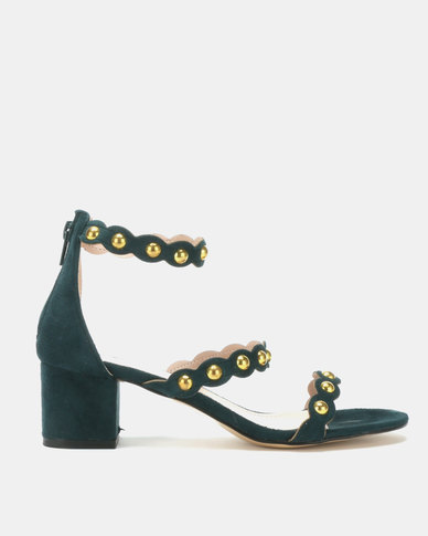 Utopia Gold Trim Low Sandals Green