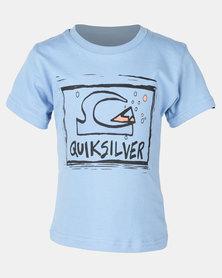Quiksilver Bubble Dream Boys SS Silver Lake Blue