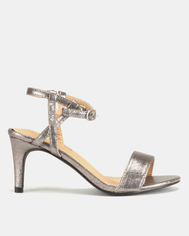 3c2809905118 Glam   Go by Jada Shimmer Heels Pewter