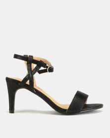 Glam & Go by Jada Shimmer Heels Black