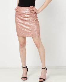 UB Creative Sequin Short Skirt Pink