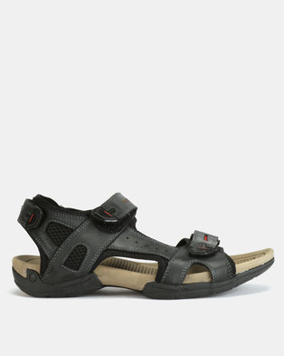24626f843 Bronx Men Everest Sandals Black
