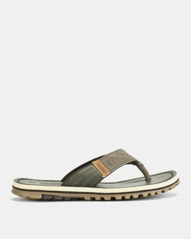 Bronx Men Stream Sandals Khaki