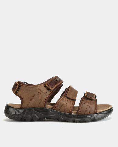 Bronx Men Bolt Sandals Choc