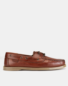 Bronx Men Casual Lace Ups Cognac
