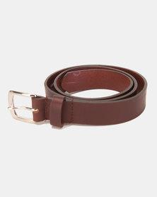 Black Lemon Classic Genuine Leather Belt Chocolate Brown