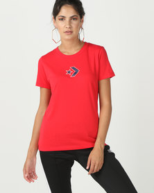 Converse Star Chevron Crew Tee Red