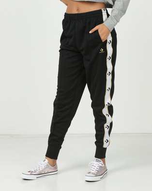 200608bc8011 Converse Star Chevron Track Pants Black