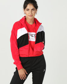 Converse Colour Blocked Track Jacket Red