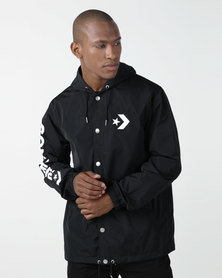 Converse Hooded Coaches Jacket Black