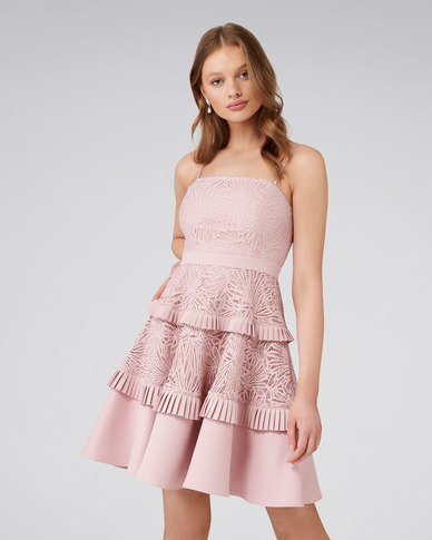 024cc10d23 Forever New Angel Strappy Spliced Lace Dress Blush