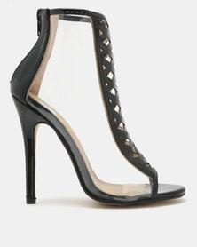 Footwork Amina Peep Toe Heels Black