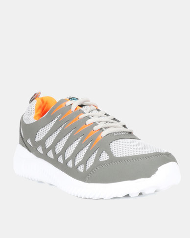 Utopia Mens Sneakers Grey Orange