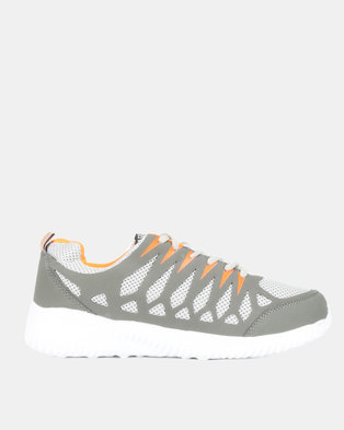 Utopia Mens Sneakers Grey Orange