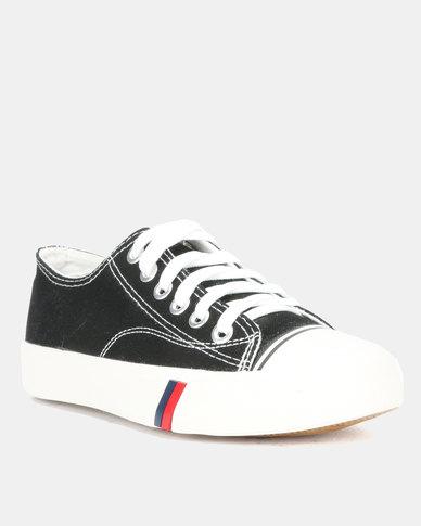 Utopia Mens Canvas Lace Up Shoes Black