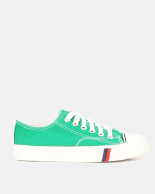 Utopia Mens Canvas Lace Up Light Green