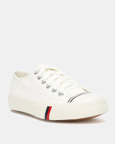 Utopia Mens Canvas Lace Up Shoes White