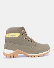 Renegade Brody Boys Boots Khaki
