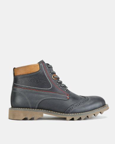 Bronx Men Glanworth Boots Navy/Tan