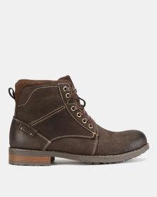 Bronx Men Lennox Boots Coffee