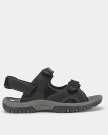 Olympic International Eagle Boys Sandals Black