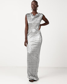 Utopia Fitted Maxi Dress Silver
