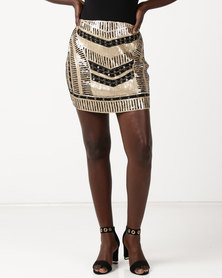 Utopia Sequins Skirt Multi
