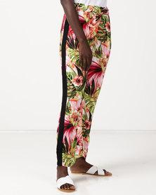 Slick Selena Printed Pant With Inset Tropical Pink