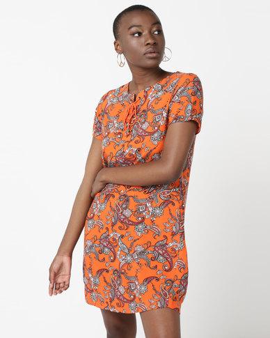 3634c54689f4 All About Eve Printed Shift Dress Orange | Zando