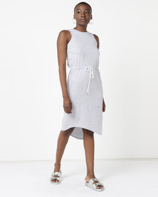 Silent Theory Waisted Midi Dress Grey