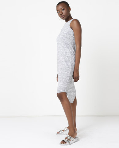 Silent Theory Casual Midi Dress Grey