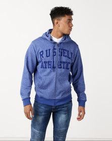 Russell Athletic Zip Through Hoodie Blue