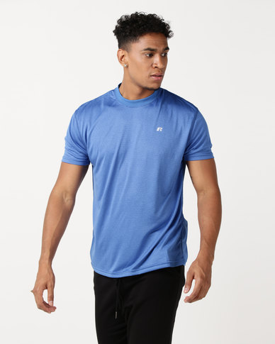 Russell Athletic Crew Neck Performance T-Shirt Blue