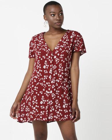 RVCA Rosa Dress Red