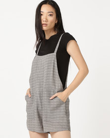 RVCA Suit Up Shorty Playsuit Black