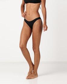 RVCA Solid Crossback Bikini Top Black